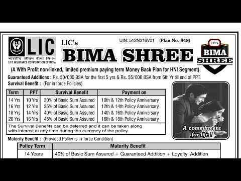 LIC New Bima Shree Policy Benefits | Limited Premium Paying Term Money Back Plan