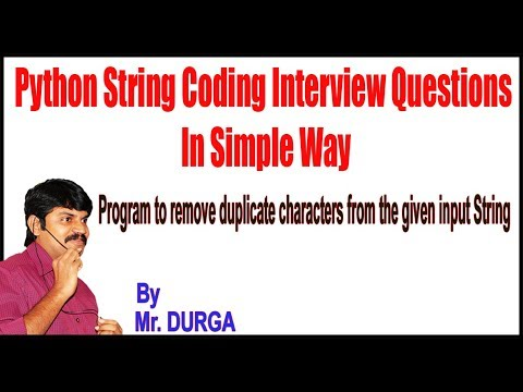 Python || Q14  Program to remove duplicate characters from the given input  String