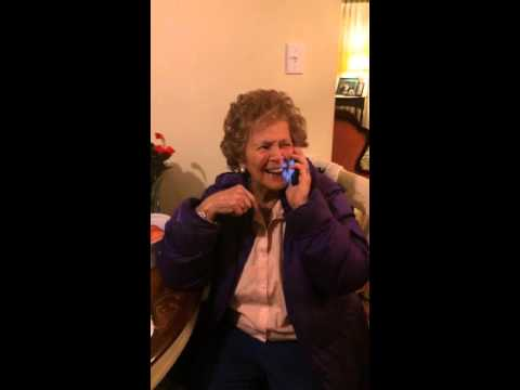 Susie listening to her own voice from 1989 #dementia #mom #music