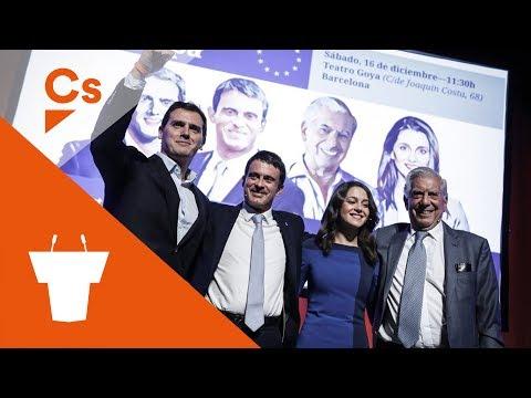 Acto Político en Santa Coloma con Inés Arrimadas, Javier Nart y Dimas Gragera