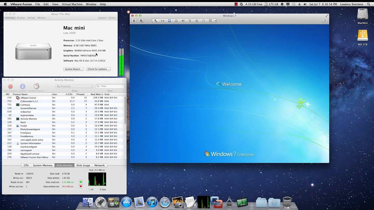 mac mini con windows 7