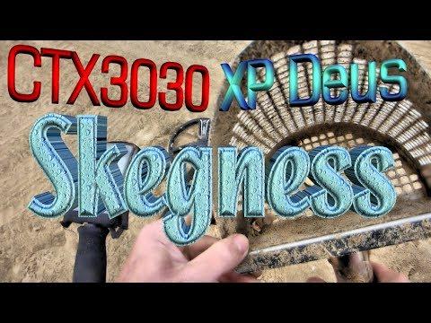 Skegness Beach metal detecting CTX3030 and XP Deus