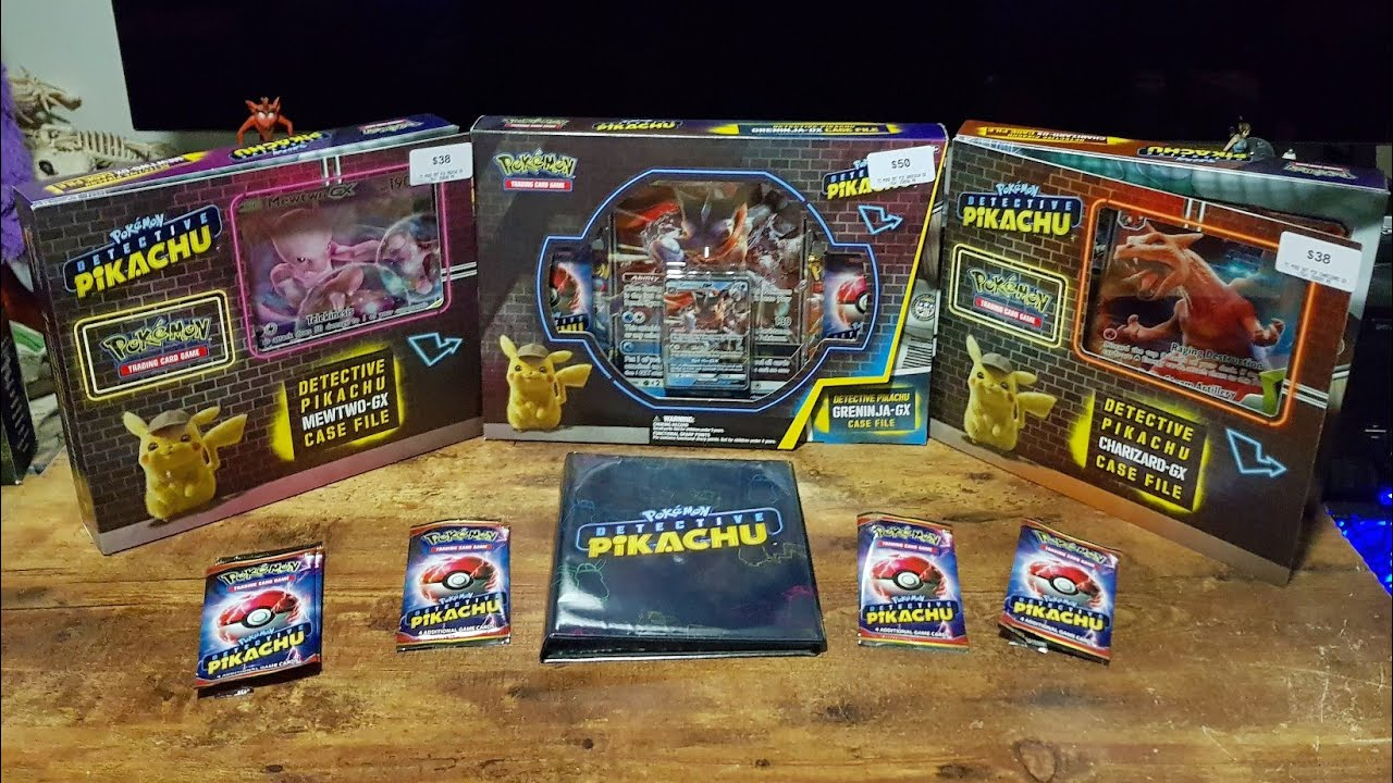 Unboxing Pokemon Detective Pikachu Trading Card Game Case Files