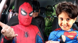 Superheroes Dancing in a Car Story for Kids
