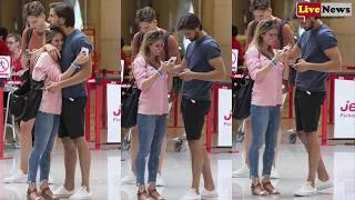 Love Island winners Amber Davies and Kem Cetinay prepare to fly home from Mallorca with their VERY