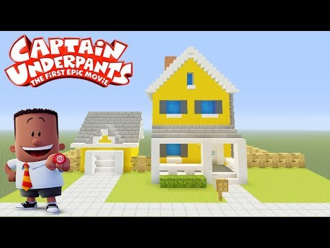 """Minecraft Tutorial: How To Make Georges House """"Captain Underpants"""""""