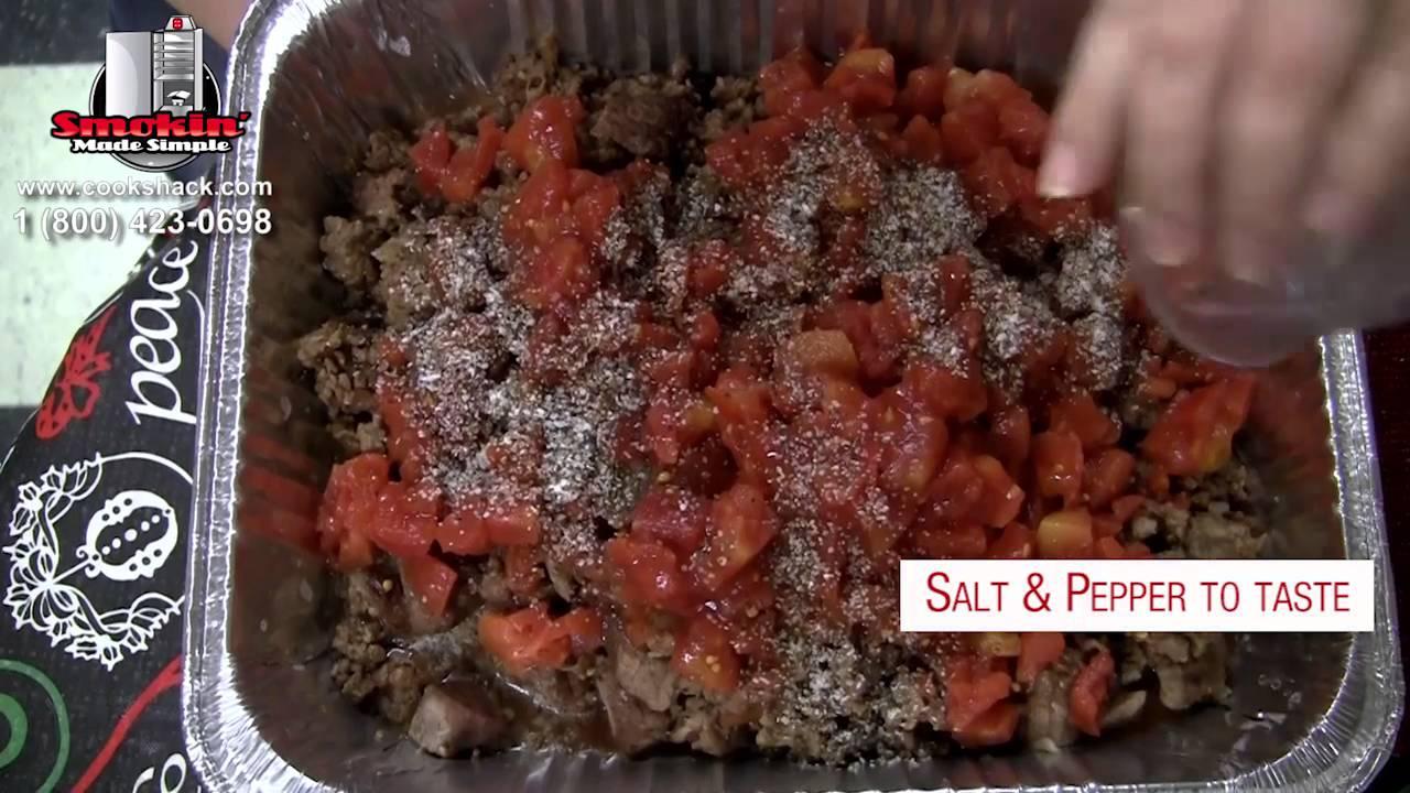 3 meat smoked chili