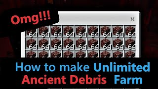 How to make Unlimited Ancient Debris Farm!!! | Java Edition  | Netherite farm | Hindi