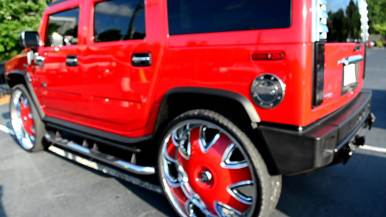 """Hummer H2 on DUB 32"""" Wheels with Spinning Caps at 2012 V103 Show"""