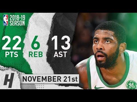 Kyrie Irving Full Highlights Celtics vs Knicks 2018.11.21 - 22 Pts, 13 Ast, 6 Rebounds!