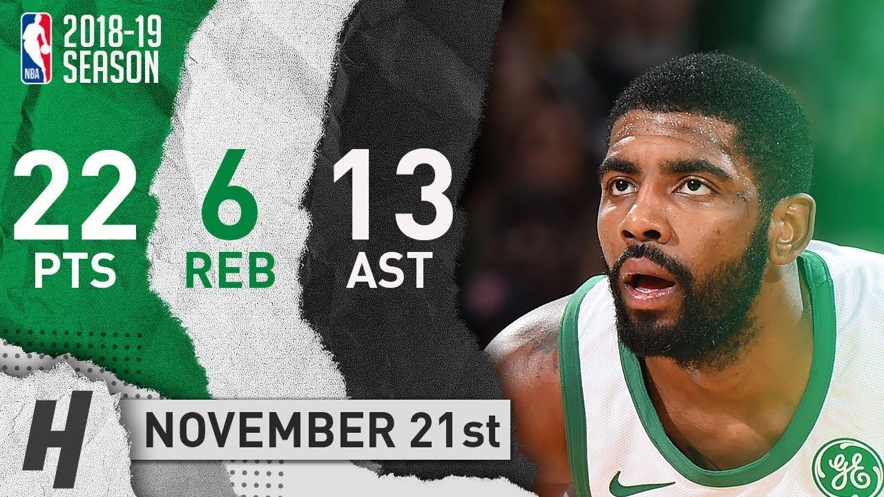 Kyrie Irving Full Highlights Celtics vs Knicks 2018.11.21 - 22 Pts ... 75d1364df