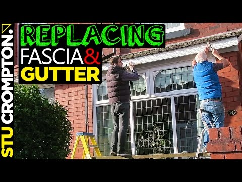 How to replace fascia board and gutter installation