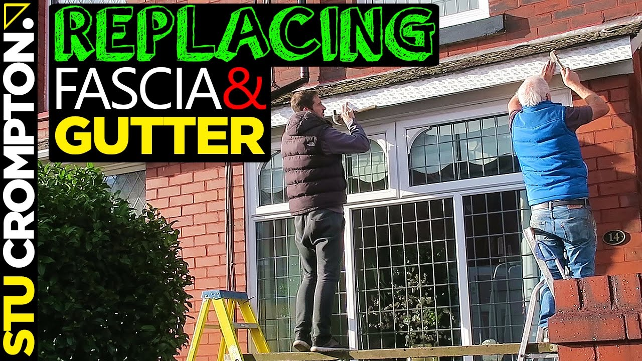 How To Replace Fascia Board And Gutter Installation Youtube
