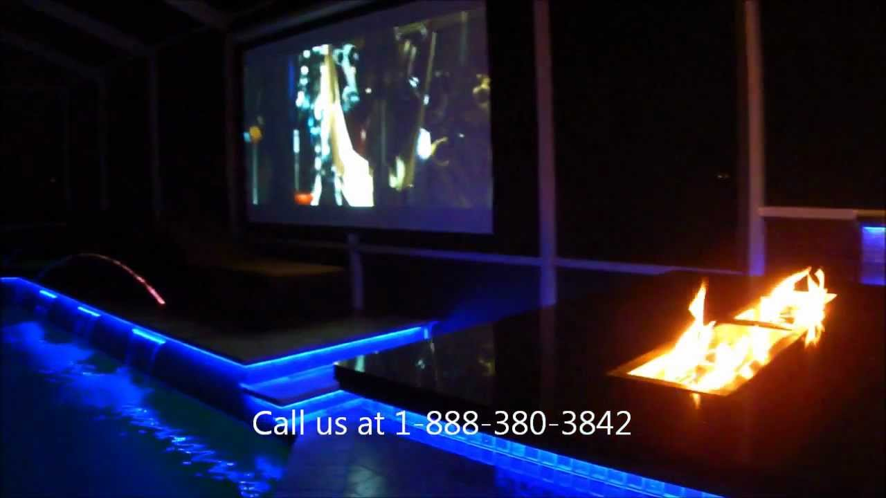 Outdoor Kitchen Lighting Led Outdoor Kitchen And Pool Lighting Tampa Florida Youtube
