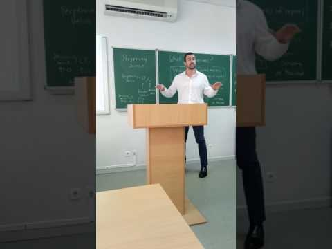 Investment Banking University - Kyiv Mohyla Academy Guest Professorship - June 14, 2017 - Video 1