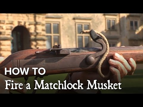To go with the archery video the same guy also did a very informative 2 minute video on matchlock muskets