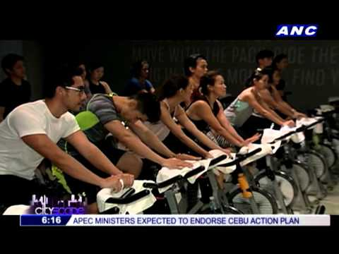 An indoor cycling studio opens in Manila