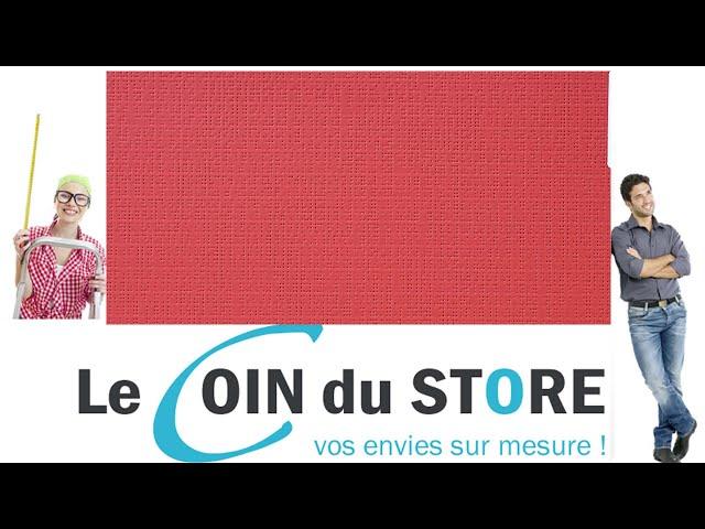 Toile PVC pour pergola et store Soltis Perform 92 Rouge carmin 8255 Serge Ferrari