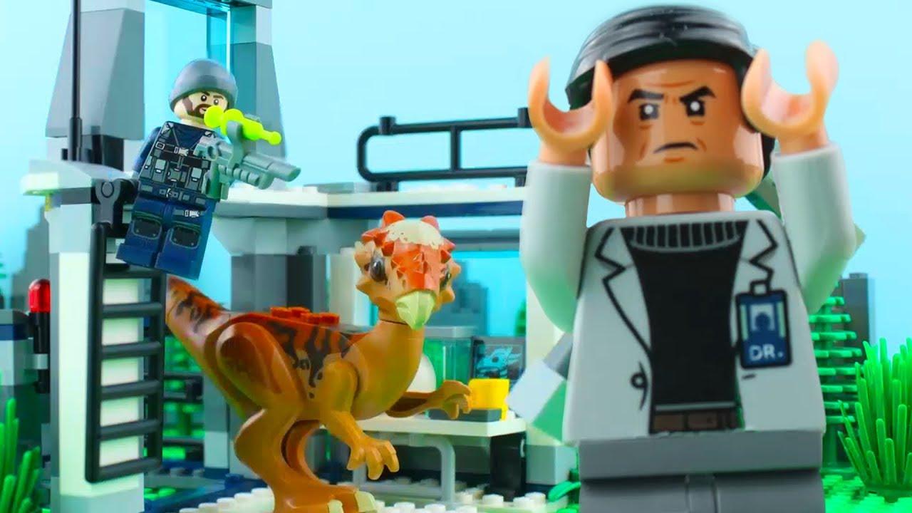 LEGO Jurassic World STOP MOTION LEGO Jurassic World: Stygimoloch Breakout   #LEGO   Billy Bricks