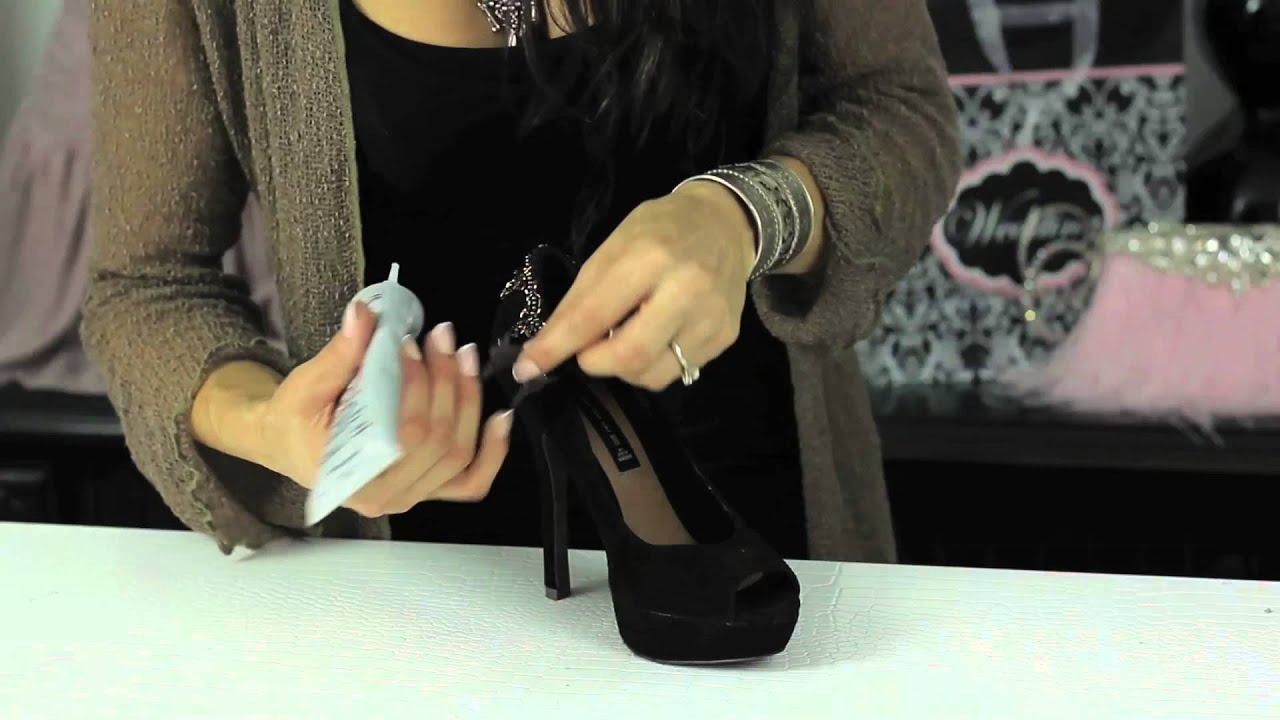 How to Glue Rhinestone Trim to Shoes   Glam Up Your Shoes - YouTube 022ab805bd