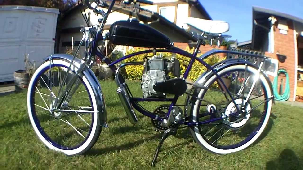 Custom Old School Motorized Schwinn Bicycle Youtube