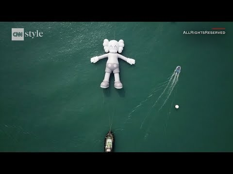 'KAWS:HOLIDAY' Splashes down in Hong Kong's Victoria Harbour