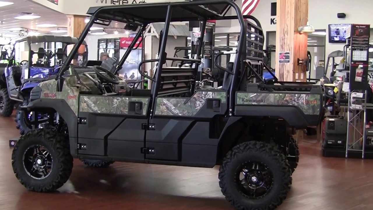 Customized Vehicles 2017 Kawasaki Mule Pro Fxt Eps Camo Youtube