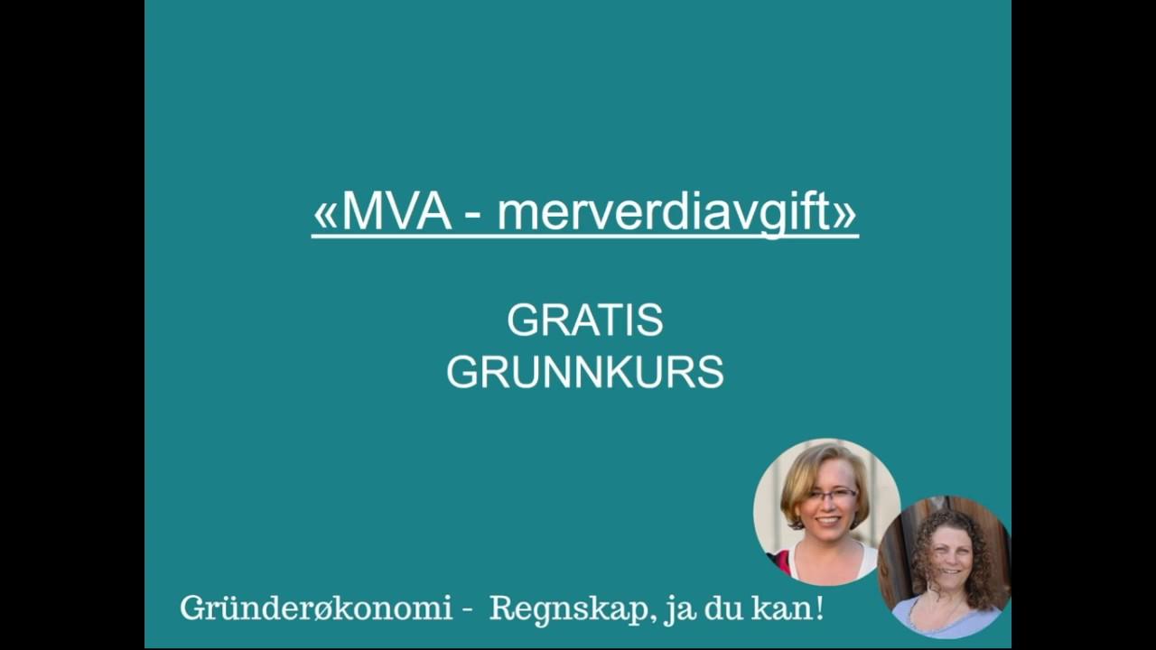 Grunnkurs i merverdiavgift (MVA)