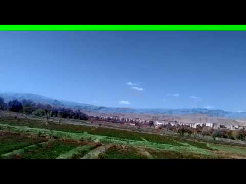 Magnificent scenery: Fields, River, Olive trees,Palm trees. Morocco, Tinghir.  4