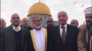 زيارة نادرة لمسؤول عربي للقدس المحتلة.. من هو؟