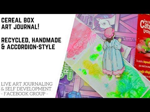 DIY: Cereal Box Art Journal!