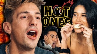 HOT ONES CHALLENGE! (I Cried Eating SPICY WINGS)