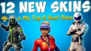 THE BEST SKINS IN FORTNITE SEASON 5 so far (12 New Skins Fortnite Battle Royale)