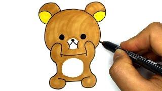 리락쿠마 그리기 - 곰 그리기 베어 캐릭터 그리기 How to draw Rilakkuma リラックマ Drawing Tutorial