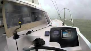 Nautitech Open 40 - doing 20 knots boat speed in heavy weather - yes, it's FAST !!
