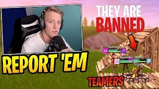 Tfue Gets 3 Players BANNED From Fortnite for Teaming in Solo! - Fortnite Best and Funny Moments