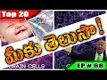 Episode # 68 | Top 20 World Most Interesting Unknown Facts about Amazing Weird Things in Telugu