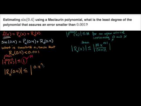 Lagrange error bound for Maclaurin polynomial