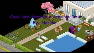 Casa com terraço + Área de lazer - Habblive [COMPLETO] By: Haruko
