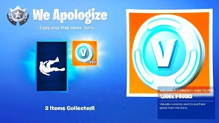 * NEW ERROR * RECEIVE FREE 1.000 V-BUCKS in Fortnite! GLITCH SEASON 9 (Free V-Dolce for EVERYONE)
