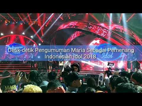 Detik-detik Pengumuman Maria Sebagai Pemenang Indonesian Idol 2018