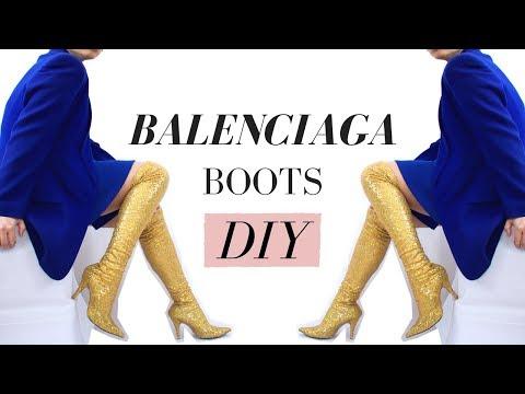 Michelle Obama Inspired   DIY Sequin Balenciaga Boots