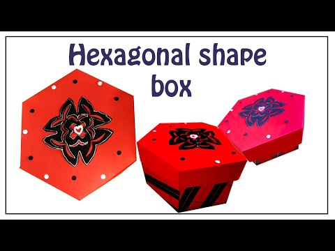 How to make an easy hexagonal shape box - DIY six sided box