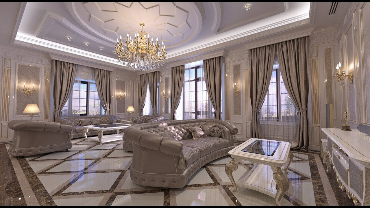 Interior design classic style living room interior in the for Classic house interior design