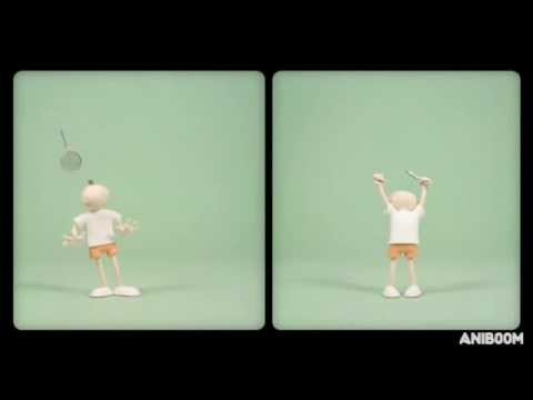Mac   Roe Play Tennis   A Cute Aniboom Animation Теннис Мультфильм