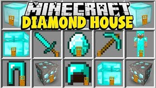 Minecraft DIAMOND HOUSE MOD   LIVE INSIDE A MINECRAFT DIAMOND HOUSE!