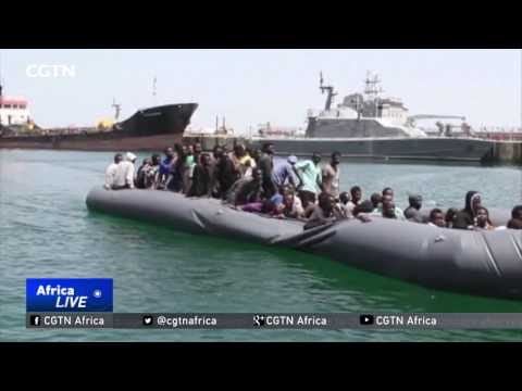 129 migrants rescued after gunmen vandalised their boat