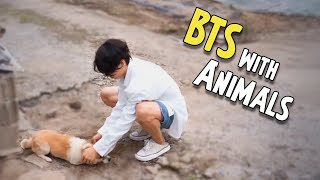 BTS with Animals (Cute Moments)