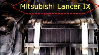 Замена фильтра на Mitsubishi Lancer IX : Changing the filter on the Mitsubishi Lancer IX
