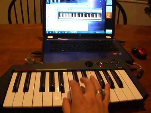 How to connect Rockband KEYBOARD MIDI to PC laptop